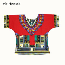 () традиционных африканских dashiki мальчиков печати девочек одежды дизайн детская платье