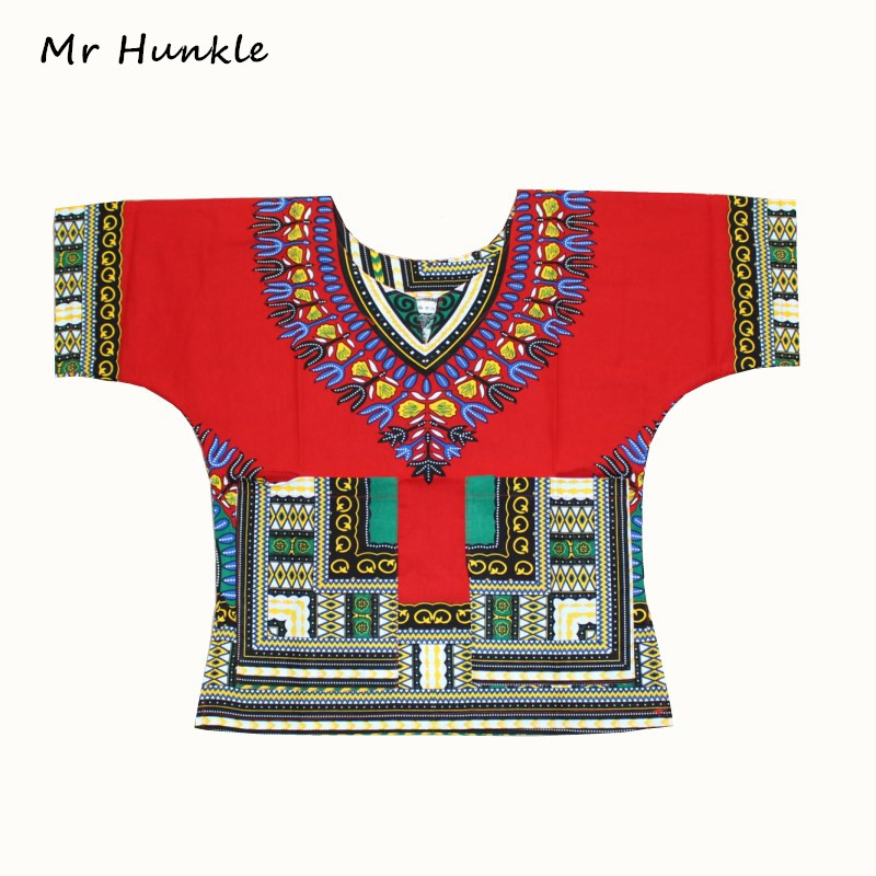 New Arrival Children's New Fashion Design Traditional African Clothing Print Dashiki For Boys And Girls(fast Shipping)