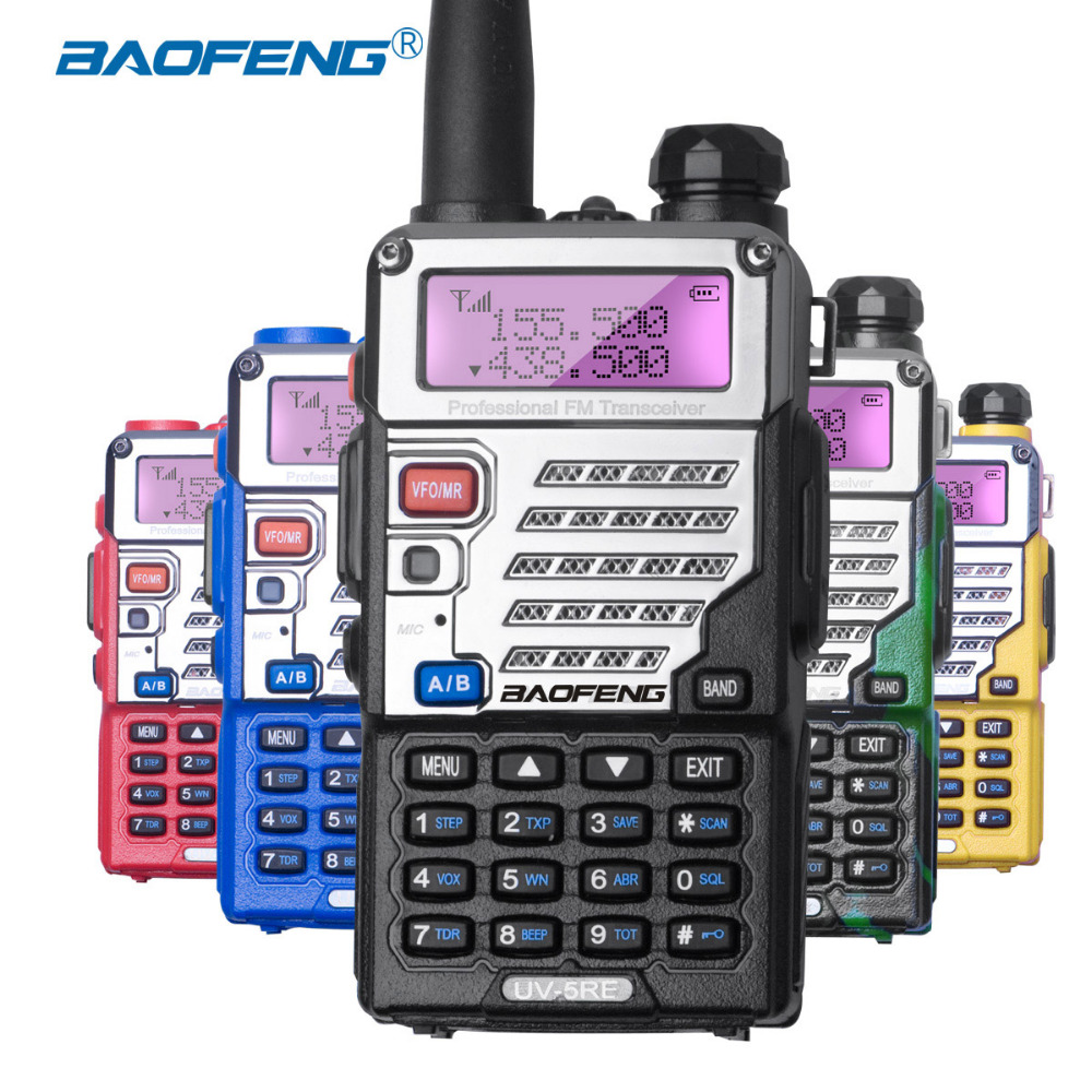 Baofeng UV-5RE Walkie Talkie Dual Band UV5RE CB Radio 128CH VOX Steel - Radios