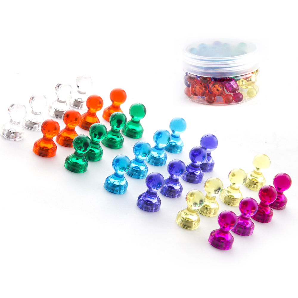 56 unids/set color imanes magnéticos 11x12mm chinchetas nevera Pizarras noticeboard skittle DIY Decoración para el hogar fuerte NdFeB magnetita
