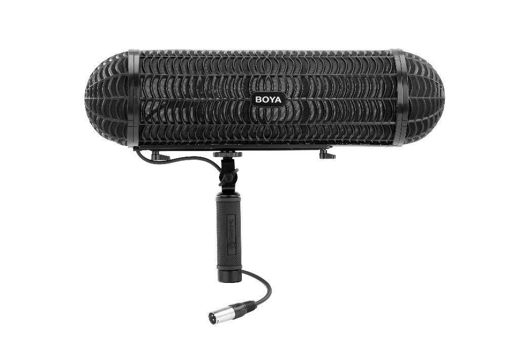 Boya, BY-WS1000, micrófonos, dirigible, sistema de suspensión para pistola de tiro, micrófono para Canon, Nikon, Sony, DSLR, grabadora de videocámara