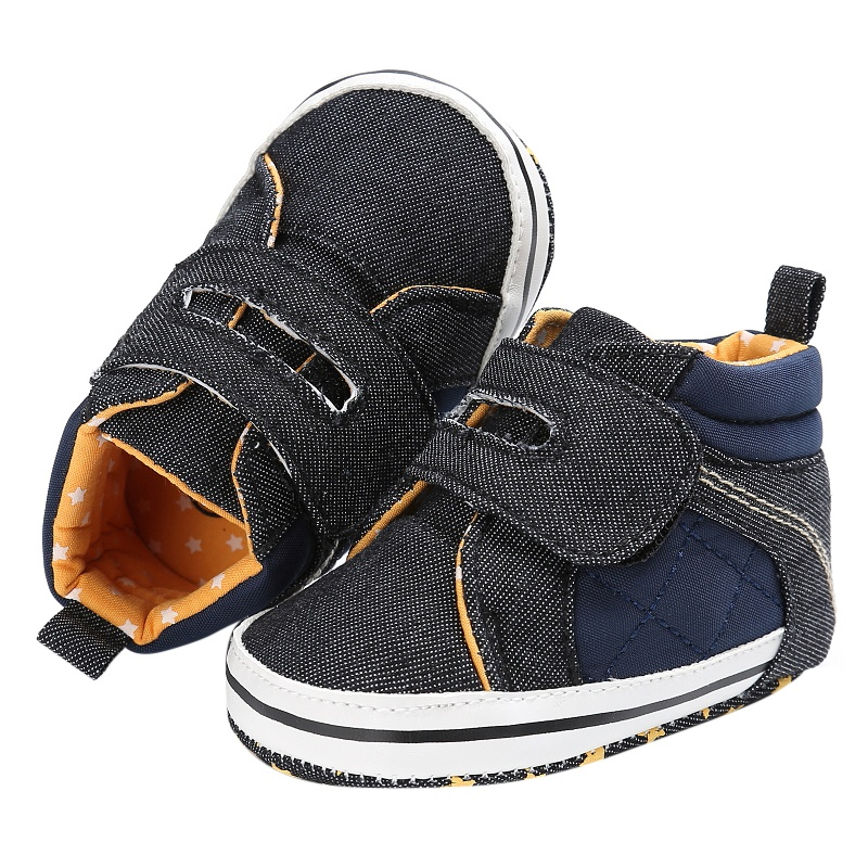 Newborn Baby Kids Boys Shoes Casual First Walkers Crib Soft Soled High Top Sneakers