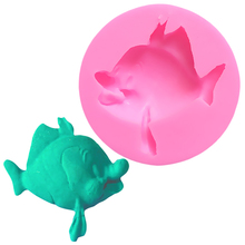 Food Grade Fish Cake Form Silicone Mold Fondant Jelly Pudding Decorating Molds Silikon For Soap Fimo A1025