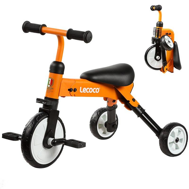 Pliage enfants vélo vélo coup de pied Scooters enfant garçon fille bébé équitation Tricycle léger Portable pied Scooters monter sur voiture jouets