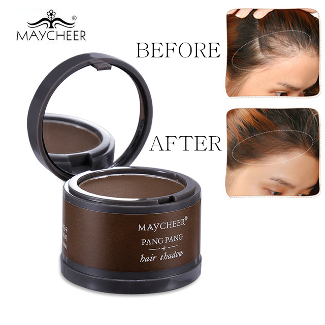 Hair Color Makeup Root Cover Up Hair Dye Powder Hair Line Shadow With Mirror & Puff Unisex