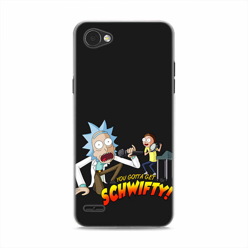 sports shoes 4aac3 16488 anime rick and morty hard Phone Shell Cases Cover for LG G5 G6 G7 ThinQ G7  Plus V30 V40 ThinQ Q6 Q7 Q8 phone case