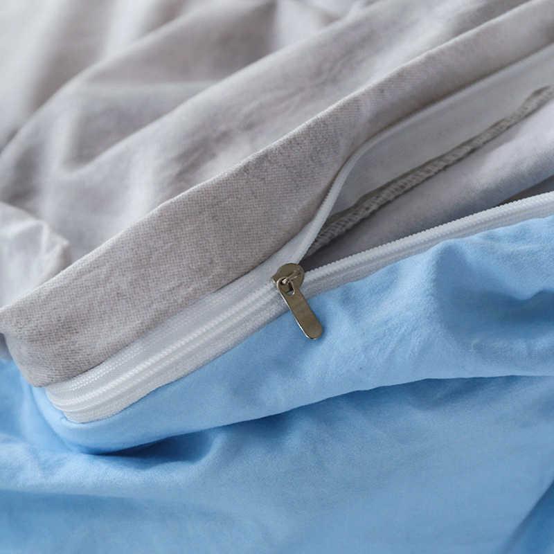 Nuvens escamosas conjunto de cama com fronhas única dupla rainha tamanhos rei capa folha plana azul cinza novo 3 pcs/4 pcs