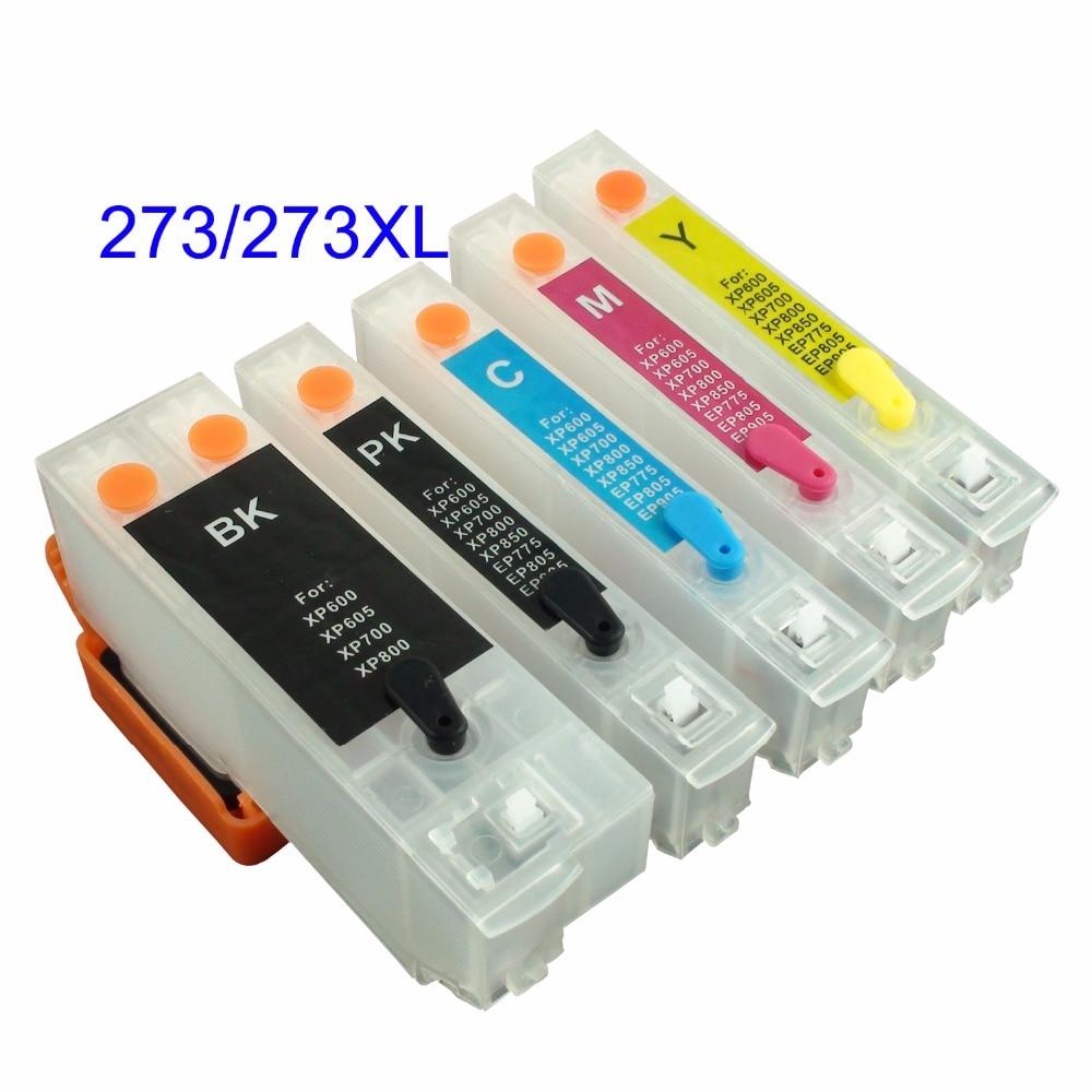 Refillable Cartridges /& INKS compatible with Epson XP-620 XP-720 XP-820 273XL