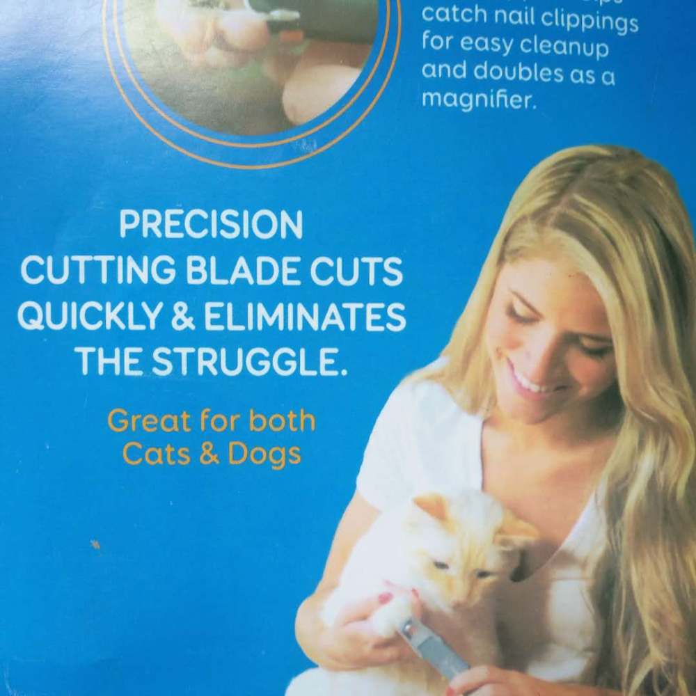 Profesional Clipper para perros de uñas de perro Trimmer gato garra amoladora con luz LED y 5X lupa de seguridad para uñas los Clippers