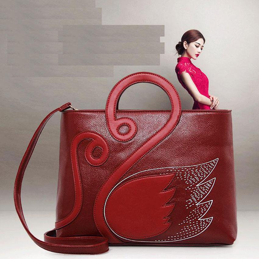 ФОТО Fashion Women Handbag PU Leather Women Bag Embossed Quality Women Messenger Bag Vintage Shoulder Bag Chinese Style Ladies Bag