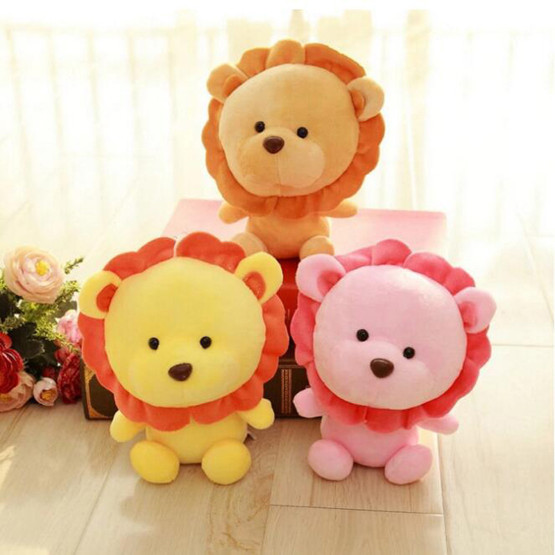 20cm Plush Toy Cute Lion Comfort Towel with Sound Paper Teether Toy Soft Appease Stuffed Toy Infant Playmate Calm Doll