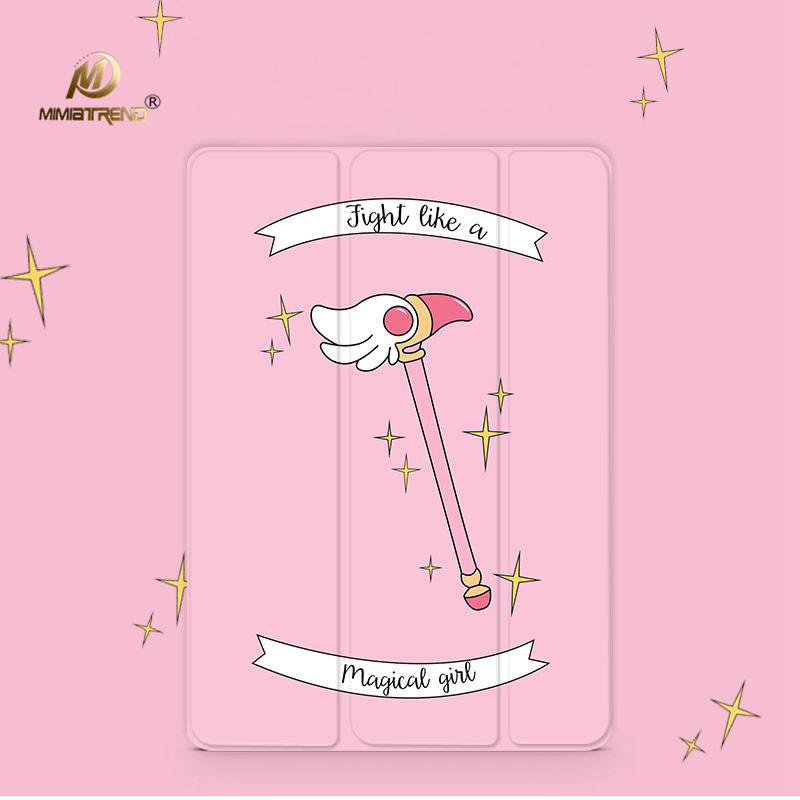 Mimiatrend Cartoon Magic Stick PU Case for iPad Pro 9.7 Air Air2 Mini 1 2 3 4 Tablet Case Shell + Screen Protector + Phone Case mimiatrend tige for apple ipad air 1 2 air2 flip pu leather case smart cover for new ipad 9 7 2017 tablet case for ipad pro 9 7