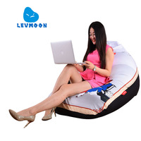 LEVMOON Beanbag Sofa Xiao Printing Seat Zac Comfort Bean Bag Bed Cover Without Filling Cotton Indoor