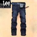 2016 Regular Fit Brand Jeans Moda Hombre Jeans de Algodón de Alta Calidad Pantalones Vaqueros Rectos del Dril de algodón Delgado Tamaño: 28-38 40 Envío Libre