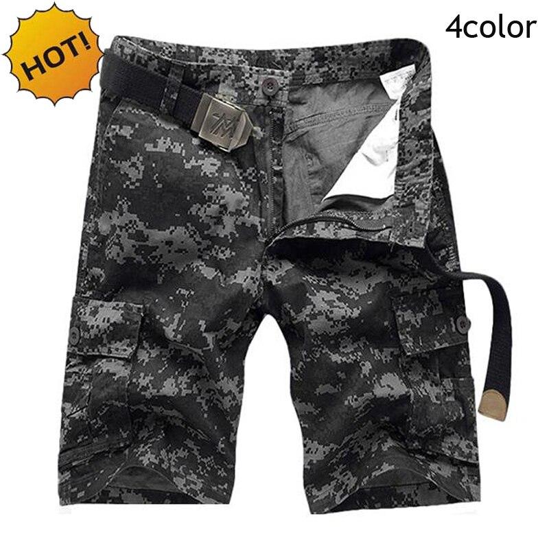 Лидер продаж, 17, летние мужские хлопковые прямые камуфляжные короткие брюки карго, мужские военные камуфляжные тактические Капри, большие р