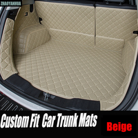ZHAOYANHUA Car trunk mats for Mercedes Benz A C W204 W205 E W211 W212 W213 S class CLA GLC ML GLE GL rug car styling liners