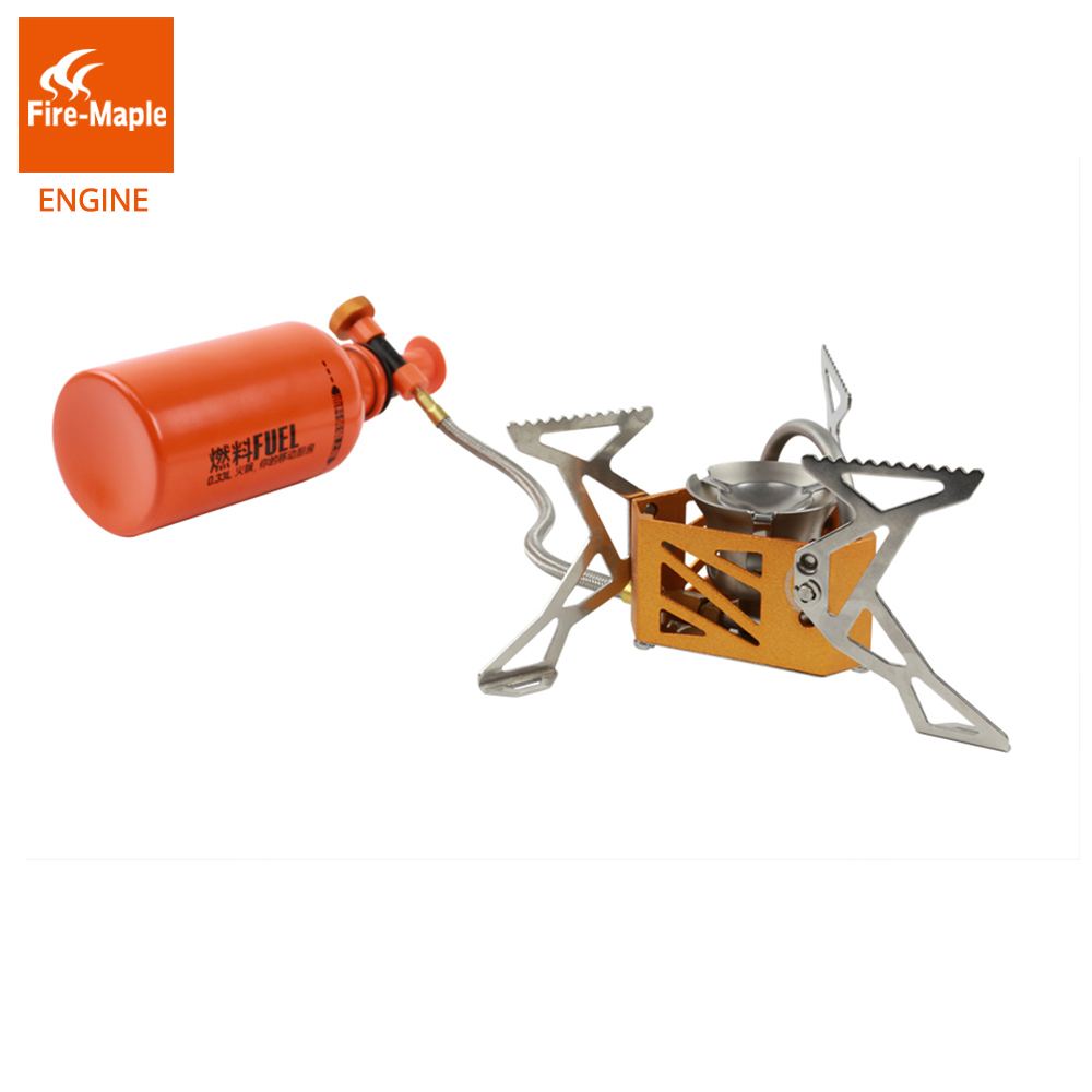 Здесь продается  Fire Maple Engine Light Weight Outdoor BBQ Picnic Camping Split Oil Petrol Fuel Stove with 0.5L Fuel Bottle 3275W 321g FMS-F3  Спорт и развлечения
