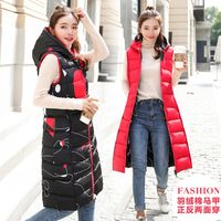 New 2018 autumn and winter women vest down cotton hooded warm waistcoat plus size 3XL female outwear two sides wear