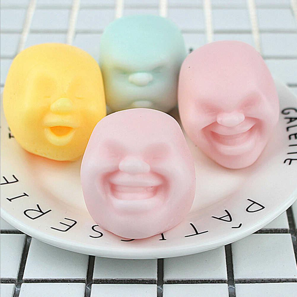 ノベルティアンチストレスおもちゃ人間の顔感情通気ボールおもちゃギフトchildrenballおもちゃ樹脂リラックス人形大人のストレスを和らげる