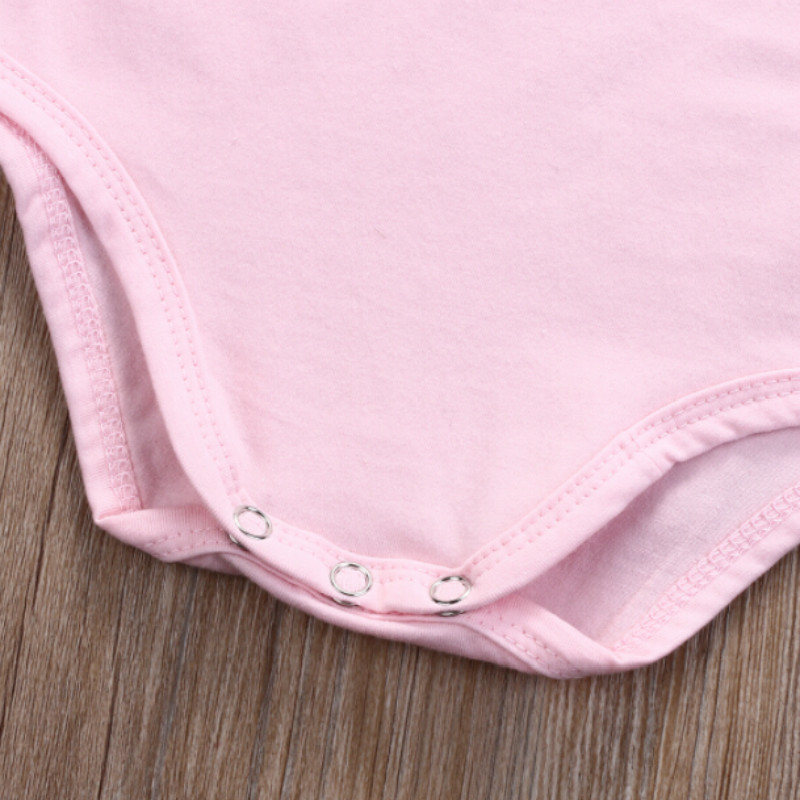 dc8ae4f8a FOCUSNORM Newborn Infant Baby Girls Cotton Short Sleeve Bodysuit ...