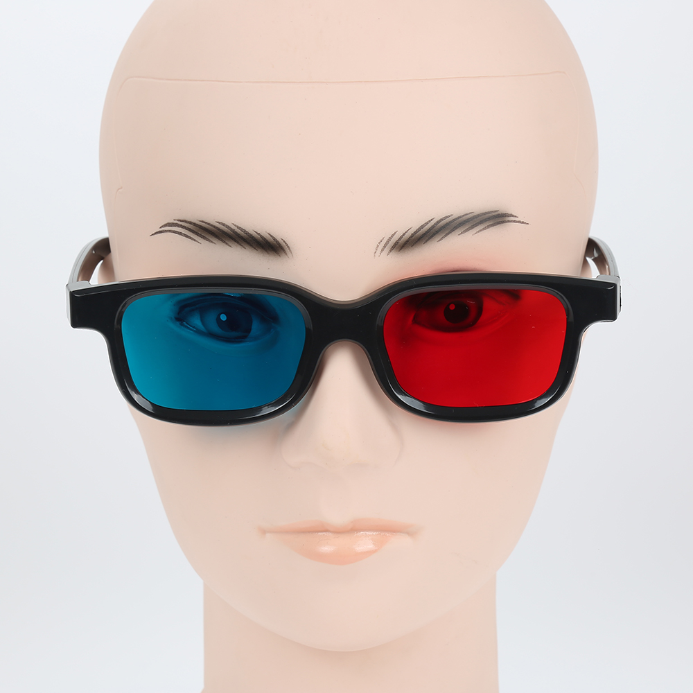 2018 New Fashion Universal type 3D glasses/Red Blue type 3D glasses Anaglyph 3D Plastic glasses Cool Fashion TV Movie DVD Game