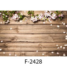 MEHOFOTO Photography Backdrop Newborn Wood Floor Photo Background Baby Flower Backdrop for Photo Studio Props Small Size
