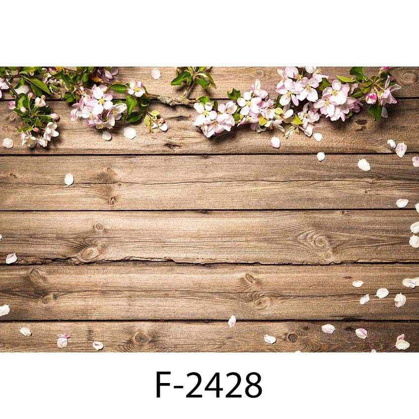 Green Flowers and Primary Color Wooden Boards Wedding Baby Photography Background Custom Photography Studio Photography Background