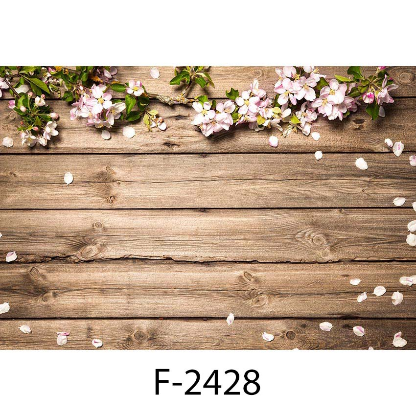 Photography Backdrops Newborn Wood Floor Photo Background Baby Flower Backdrop for Photo Studio Props Small Size fantasy leaves orange white wood board baby shower backdrop background fond studio photo vinyle