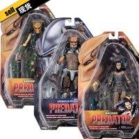 New Arrival 18th Line Up NECA Movie AVSP Broken Tusk Hornhead Animin Predator Comic Machiko Predator Toys Action figure Model