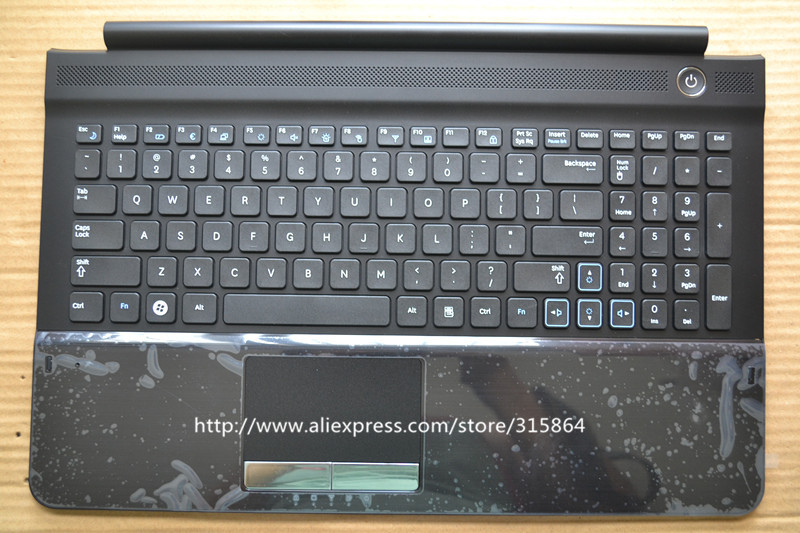 ФОТО New laptop keyboard for samsung  NP RC510 RC520 with touchpad US layout