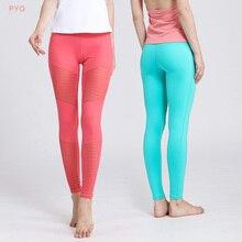 PYG Fall and Winter Women Yoga Pants Fitness Yoga Sports Leggings For Women Sports Tight Mesh