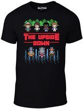 Mens 8-Bit Upside Down T-Shirt Retro Gaming Stranger Things Cartridge Arcade