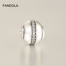 Stability Bead Fits Pandora Essence Collection Bracelet Genuine 925 Sterling Silver Charms Jewelry Beads for Women DIY Making
