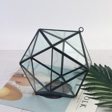 Geometric Jewelry Box Glass Wedding Decoration Home Accessories Hanging Micro-view Ornaments