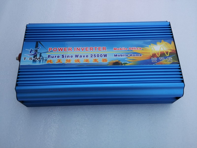 Off Grid 2500w Pure Sine Wave Inverter for Solar or Wind , Single Phase, Surge 5000w, DC12V, AC110V/220V, 50Hz/60Hz