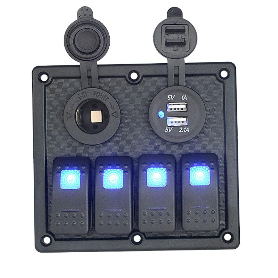 Marine Schalttafel Schalter Dual USB Kfz ladegerät ...