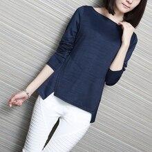 Здесь можно купить  2016 New Automn Soft and Silky Long Sleeve Tshirt Sweet Women/Girls/College Pink/White/Black O-neck Tops Winter Solid Base Shirt