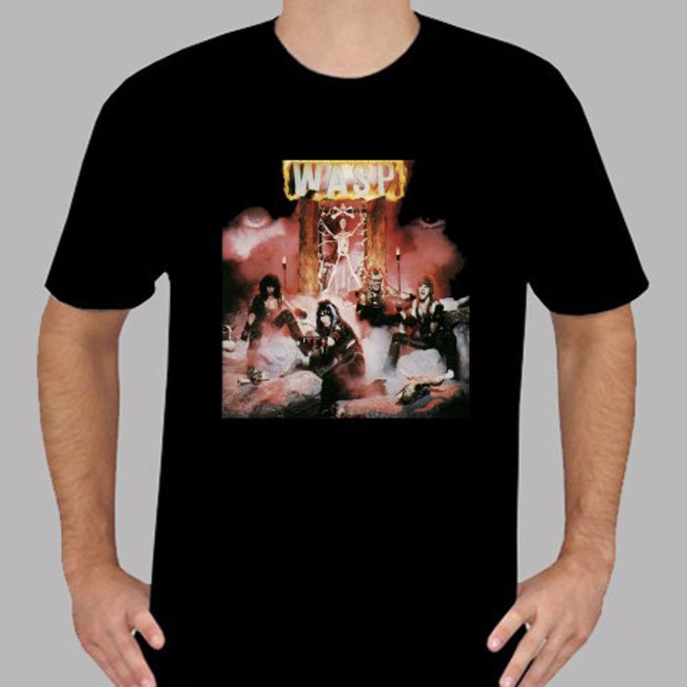 New WASP W.A.S.P. Metal Rock Band Mens Black T-Shirt Size S To 3XL Novelty Cool Tops Men Short Sleeve T Shirt Men Short