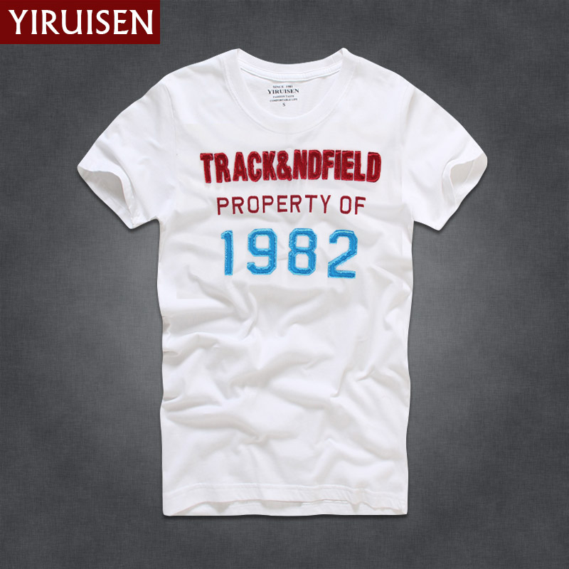 YIRUISEN Brand New York Style   T     shirt   Men Short Sleeve Fashion 2016 Summer White   T  -  Shirt   Tshirt Homme Camisetas Masculinas