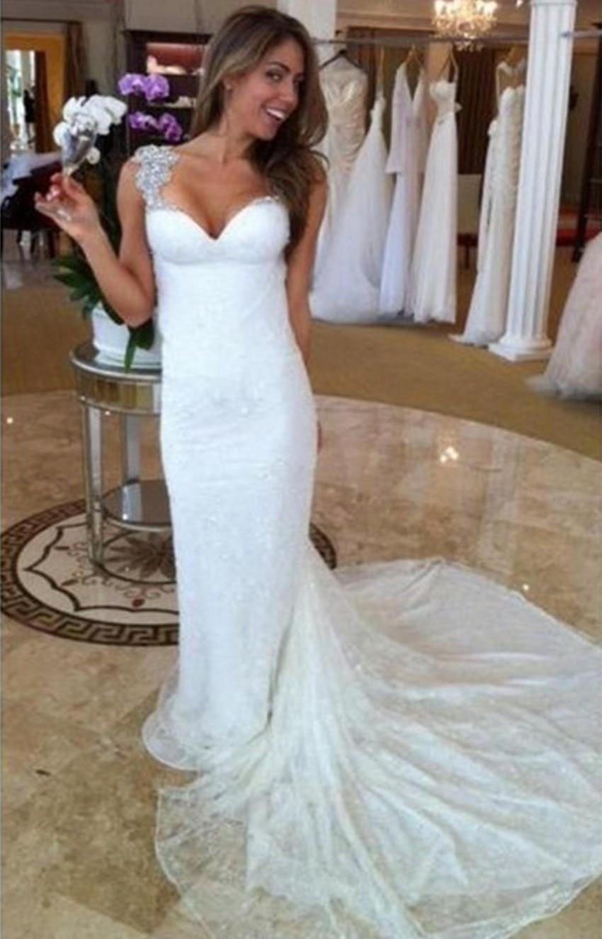 Fashion Lace Mermaid pnina tornai Wedding Dresses 2015 Bridal Bride ...