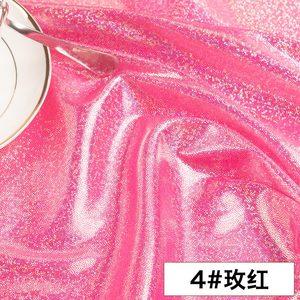 Лазерный флуоресцентный тканевый Красочный Блестящий тканевый сценический Фотофон для свадебного украшения ткани для шитья кукольного пл...