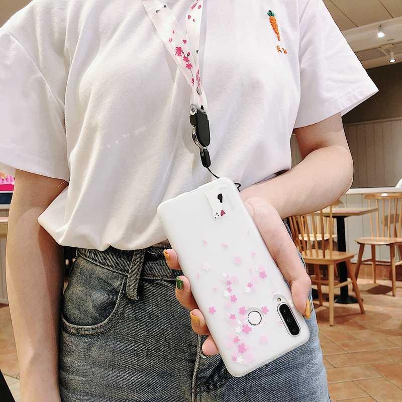 Cerezo Flor de conejo caso suave para Xiaomi mi 8 9 SE A2 Lite rojo mi ir 4A 4X 5A 5 Plus Nota 4 4X 7 6 Pro conejo gato funda de TPU mate