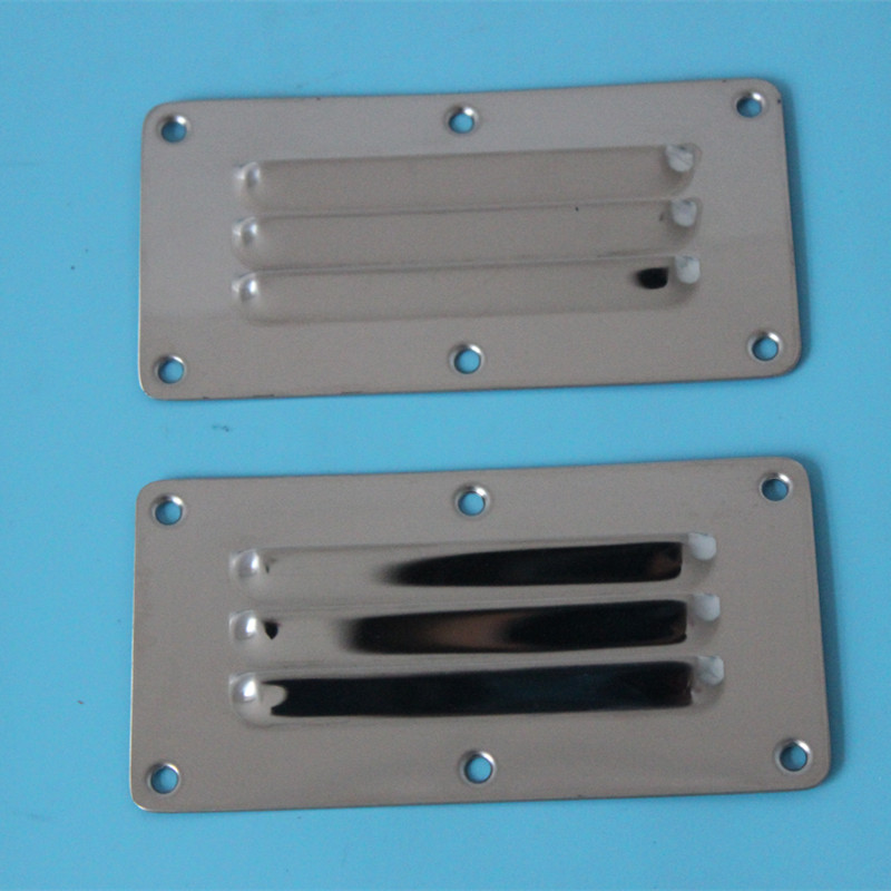 2XHigh Quality Stainless Steel Air Vent Grille Covers Ventilation Grill Cover 126X65 mm