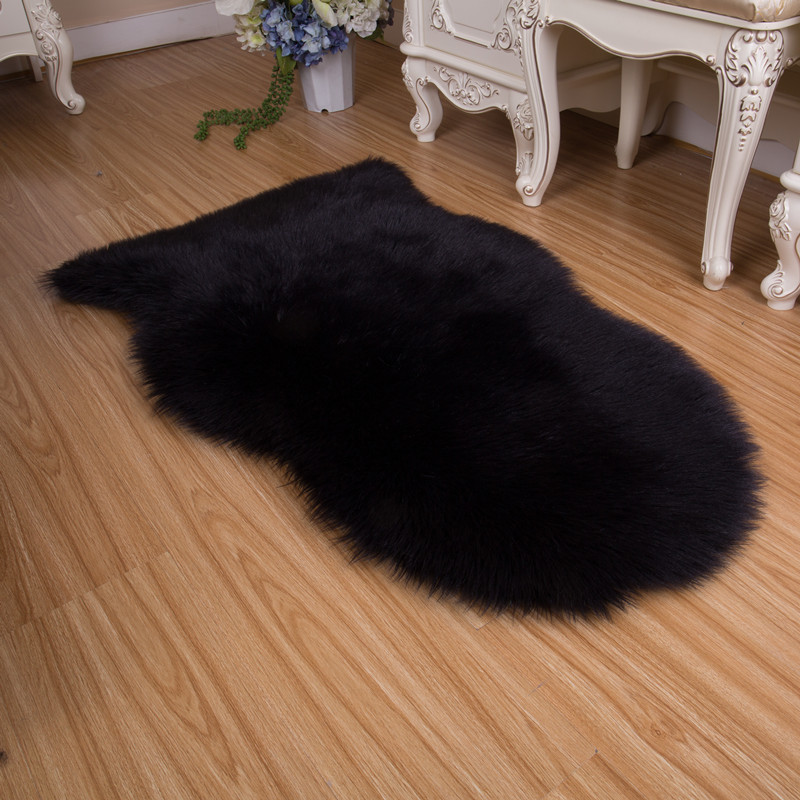 Smelov chinese luxury sheepskin carpet bathroom living room baby kids room wool shaggy rug anti slip carpet mat white pink red in Carpet from Home Garden