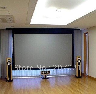 Freeshipping 92inch 16:9 3D silver screen High Brightness Motorized Projection Projector Screen Electric Home theater screen luxury motorized electric tab tension 139inch 16 10 matte white home theater high quality cinema projector screen