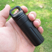 NEW Aluminium Alloy Survival EDC Waterproof Capsule Seal Bottle Case Container Holder Tool(China)