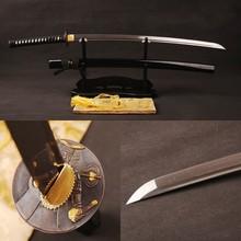 Handmade Japanese Samurai Sword Katana Full Tang Folded Steel Blade Practical Sharp Knife Vintage Home Metal Decoration
