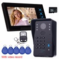 "7"" Color Video Door Phone Doorbell Video Intercom Camera Doorbell RFID Access Control System &Video Record Videoportero F4482A"