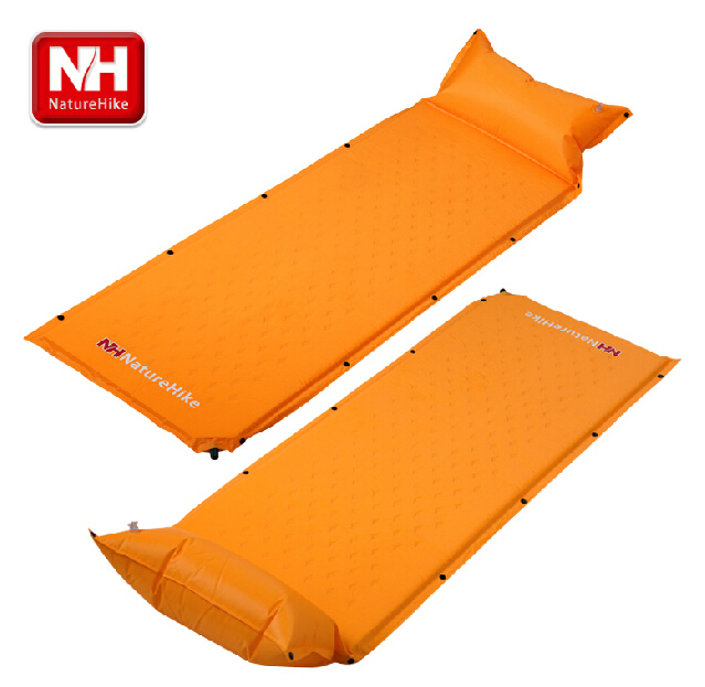 ФОТО NatureHike Outdoor Picnic Mat Moisture-proof Pad PVC Widening Automatic Inflatable Single Person Camping Mat