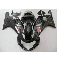 Personalizar Inyección carretera/raza carenado kit para SUZUKI K1 2001 2002 2003 GSXR600 GSXR750 01 02 03 brillante negro carenados de la motocicleta